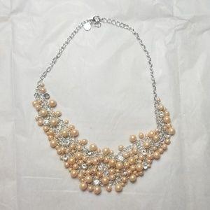 Charter Club Pearl & rhinestone statement necklace